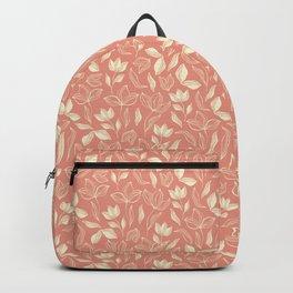 Delicate Leaves Peach Backpack