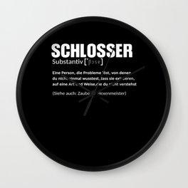 Locksmith Definition Wall Clock