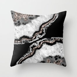 Yin Yang Agate Glitter Glam #5 #gem #decor #art #society6 Throw Pillow