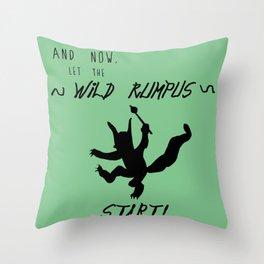Wild Rumpus (Green) Throw Pillow