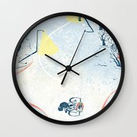 cycling Wall Clocks featuring Winter Cycling by Dushan Milic
