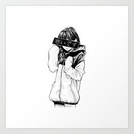Anime Schoolgirl Art Print