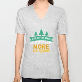 Forest trees nature earth climate Unisex V-Neck