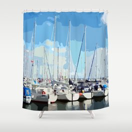 Harbor flair Shower Curtain