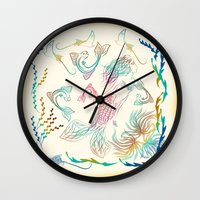 mermaid Wall Clocks featuring Mermaid by famenxt