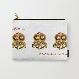 Brassy Cog Owl Carry-All Pouch