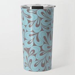 Teal and coffee hand drawn elegant surface pattern Travel Mug