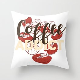 Coffee Addict Throw Pillow