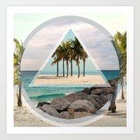 miami Art Prints featuring Miami by Wesley Bird