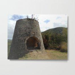 Peace Hill, St. John,Virgin Islands, Sugar Mill Stone Ruins Metal Print