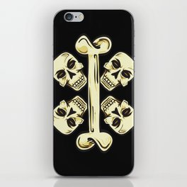 Bone and Cross-Skulls iPhone Skin
