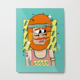 90´Style Barbas Metal Print