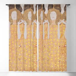 Gustav Klimt - Choir of Angels (Chor Der Paradiesengel) Blackout Curtain