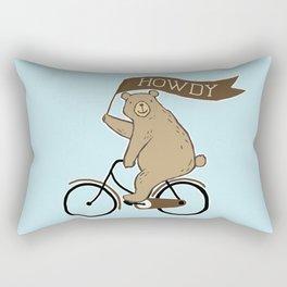 Friendly Neighborhood Bicycle Bear Rectangular Pillow
