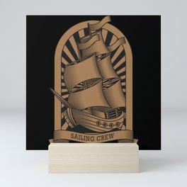 SAILING THREE-MASTER SAILING CREW Gift Sailor Mini Art Print