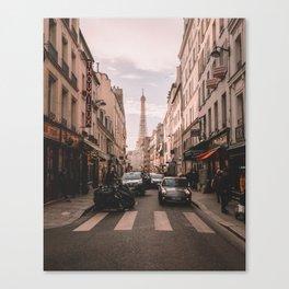 Vintage Paris, France (Color) Canvas Print