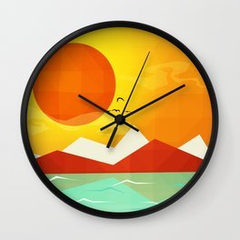 Inferno hot day - and we love it! Wall Clock