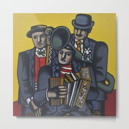 The Three Musicians by Fernand Léger Metal Print