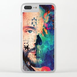 Will Graham What Lies Beneath Puzzle Skull 2 Clear iPhone Case