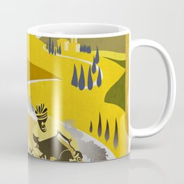 Strade Bianche retro cycling classic art Coffee Mug
