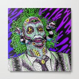 Monster Ghost Metal Print