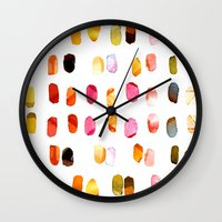 aelwen Wall Clocks featuring strokes of colors by clemm