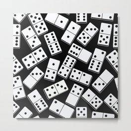 Black and white domino seamless pattern Metal Print