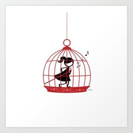 The Caged Bird Sings Art Print