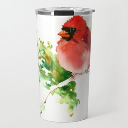 Cardinal Bird, stet birds decor design cardinal bird lover gift Travel Mug