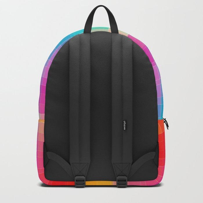 Rainbow grid Backpack
