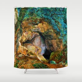 James Campbell Dragon Den Shower Curtain