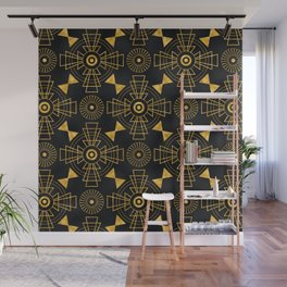 Glitzy Glamorous Gold and Black Art Deco Design Wall Mural