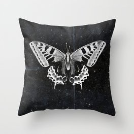 Butterfly in the stars Throw Pillow