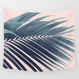Palm Leaf Blush Vibes #1 #tropical #decor #art #society6 Wall Tapestry