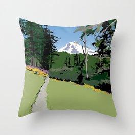 Mt. Hood Meadows New! Throw Pillow