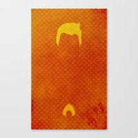 aquaman Canvas Prints featuring Aquaman by theLinC