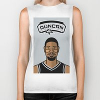 tim shumate Biker Tanks featuring Tim Duncan by Will Wild