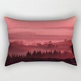 My road, my way. Red. Rectangular Pillow