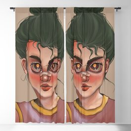 just a girl with band-aid on her nose Blackout Curtain