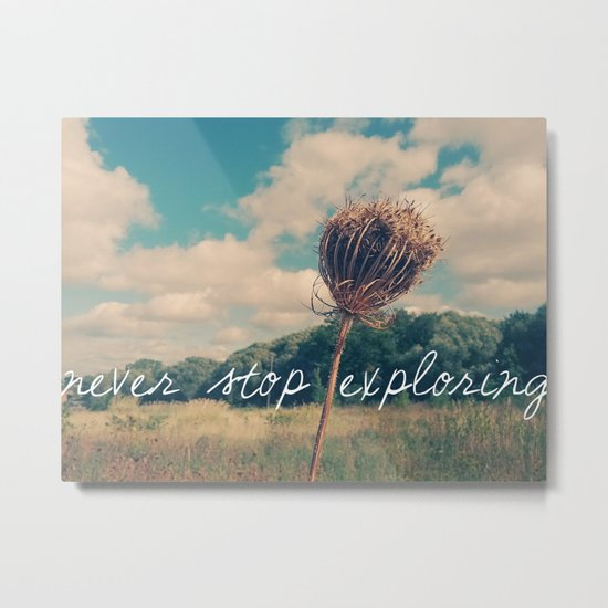 Never Stop Exploring II Metal Print