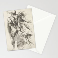 Anatomical study of three figures, 17th Century Stationery Cards