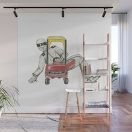 Stig Test Drives Nostalgic Cozy Coupe Little Tyke Car Wall Mural