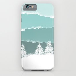 Winter in the mountains iPhone Case