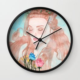 Waterlillies Wall Clock