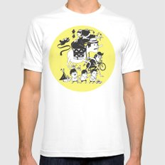 Race Against Time White SMALL Mens Fitted Tee