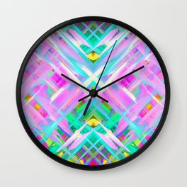 Colorful digital art splashing G473 Wall Clock