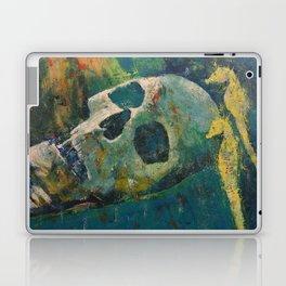 Yellow Seahorses Laptop & iPad Skin