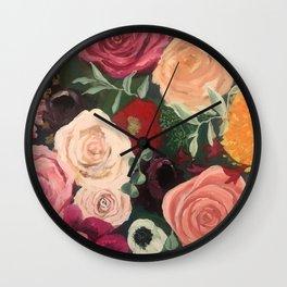 Midsummer Floral Wall Clock