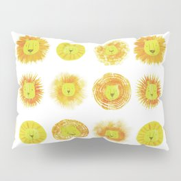 Lion heads Pillow Sham