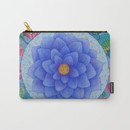 Violet Flower Mandala Carry-All Pouch